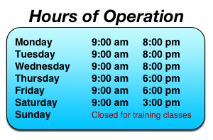 Waxing Hours of Operation